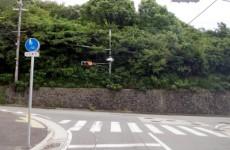 突き当たりのT時交差点