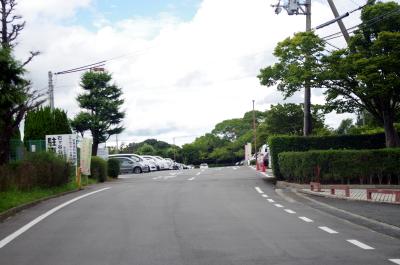 石ケ谷公園駐車場の入口